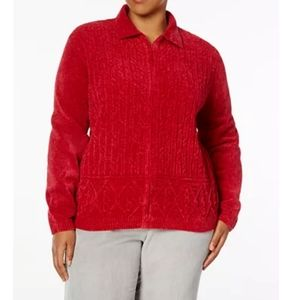 Alfred Dunner Chenille Cardigan Sweater